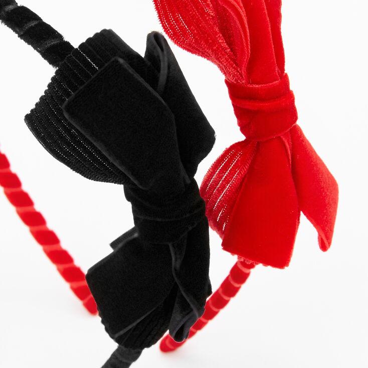 Velvet Bow Headbands - 2 Pack,