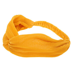 Pleated Twisted Headwrap - Mustard,
