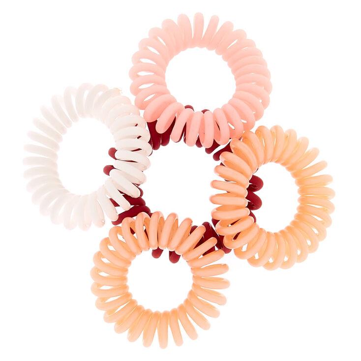 Mini Berry Spiral Hair Bobbles - 5 Pack,