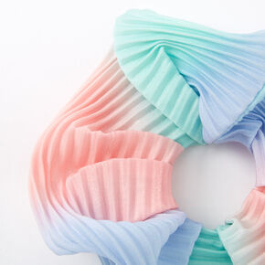 Medium Pastel Ombre Pleated Hair Scrunchie,