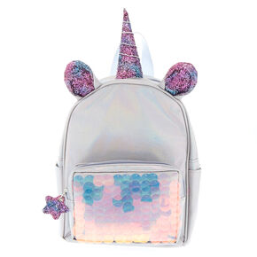 59c3be066 Unicorn Reversible Sequin Mini Backpack - Silver