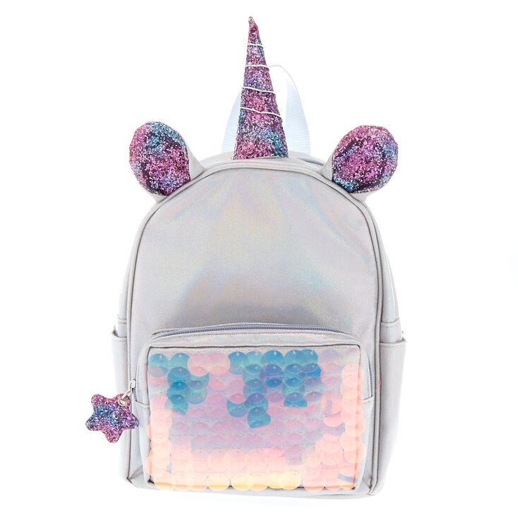 Unicorn Reversible Sequin Mini Backpack Silver Claire S Us