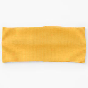 Flat Ribbed Headwrap - Mustard,