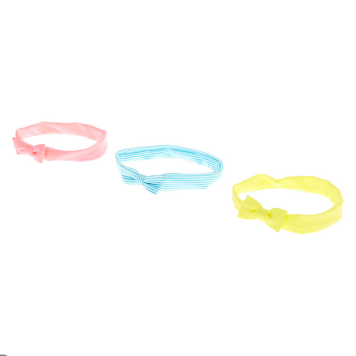 Claire's Club Bow Headwraps - 3 Pack,