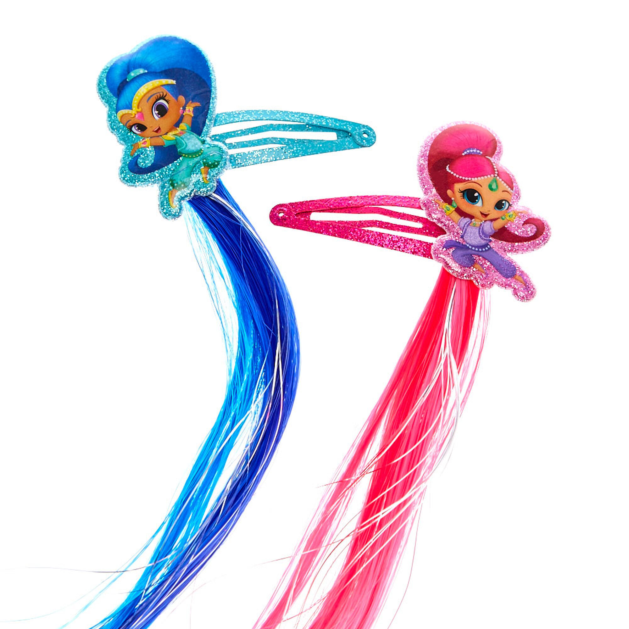 Shimmer And Shine Hair Clips With Faux Hair Extensions Claires Us