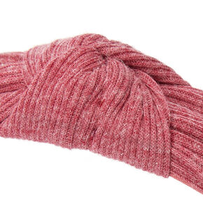Ribbed Knotted Headband - Brick,