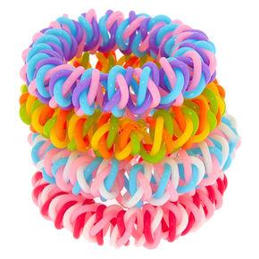 Rainbow Twist Spiral Hair Ties - 4 Pack,