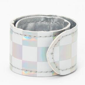 Bracelet enrouleur à carreaux holographique,