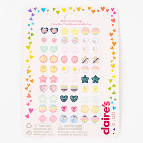 Claire's Club Springtime Stick On Earrings - 60 Pack,