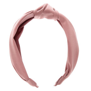 Satin Knotted Headband - Pink,