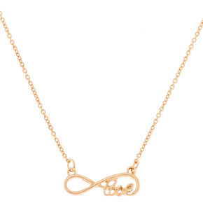 Gold Infinite Love Pendant Necklace,