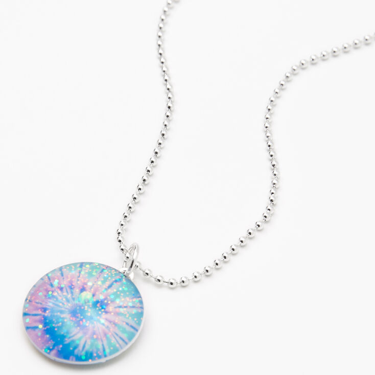 Iridescent Tie Dye Pendant Necklace,