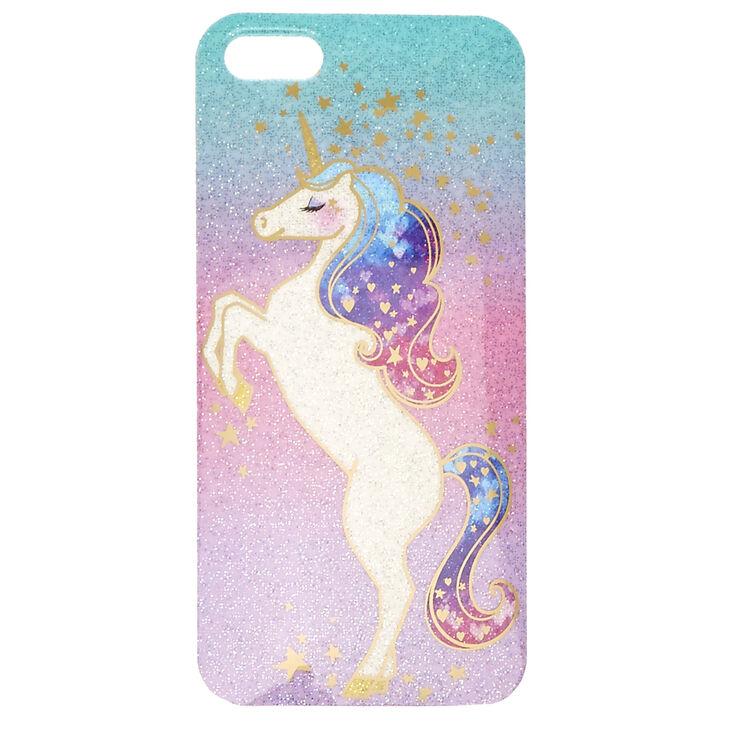 Coque pour iPod licorne scintillante pastel- Compatible avec iPod Touch 5/6,