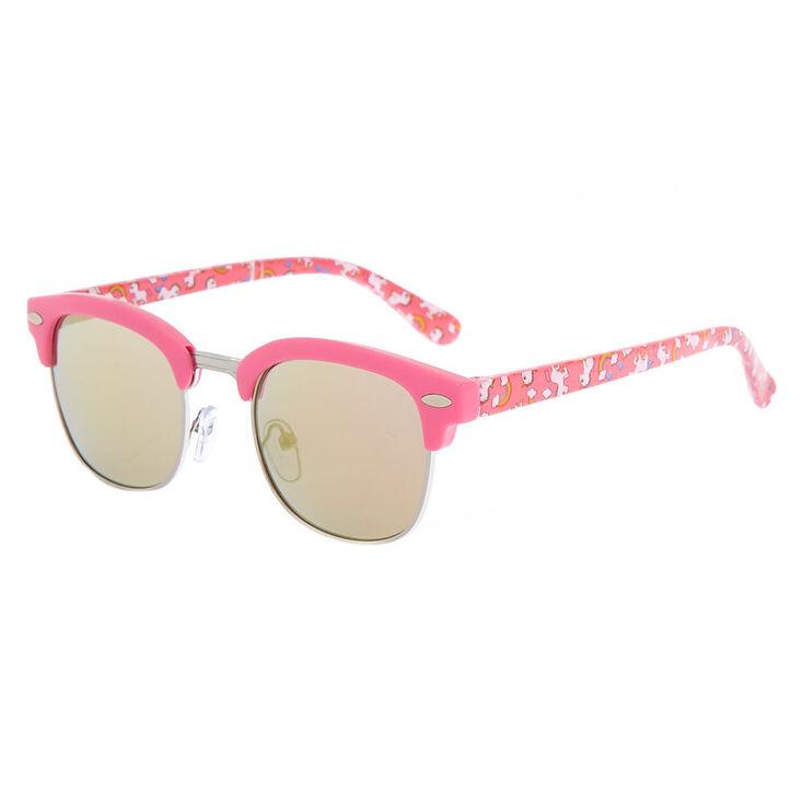 3354b292f1 Claire s Club Unicorn Rainbow Sunglasses - Pink