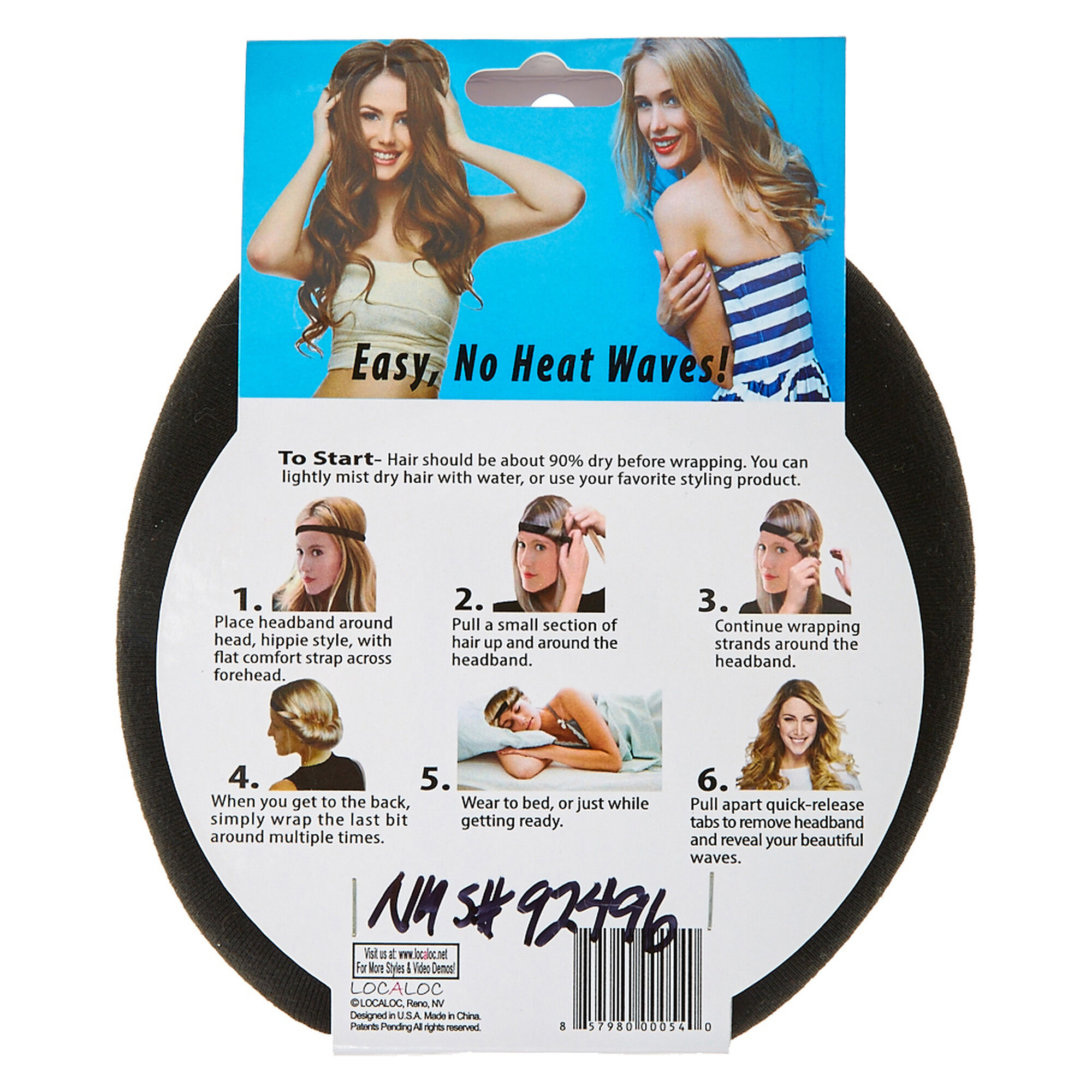 Night Waves™ Tousled Black Headband  42324cfa663