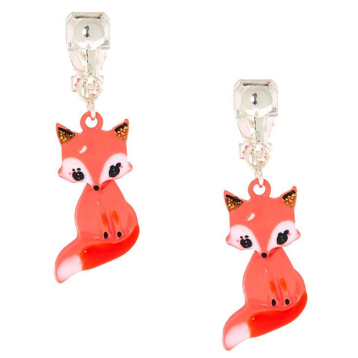Farrah The Fox Clip On Earrings - Coral,