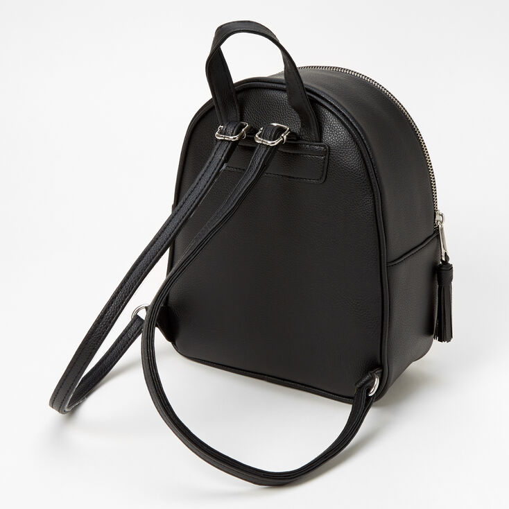 Quilted Small Backpack - Black,