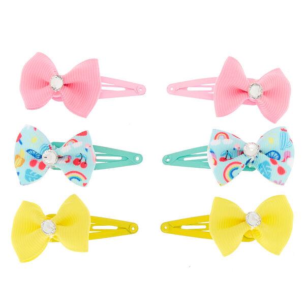 Claire's - club gem bow snap hair clips - 2