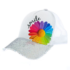 049b6b241ef Daisy Smile Baseball Cap - White