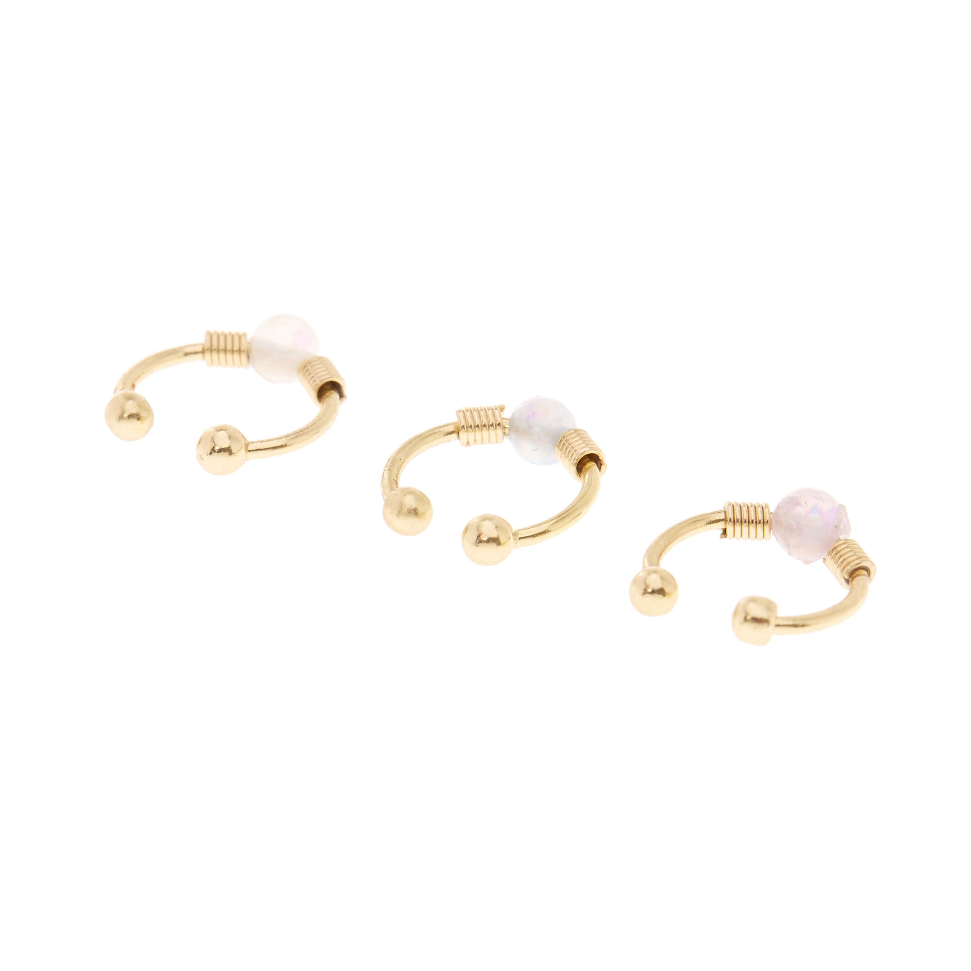gold stud product rose body opal l bone piercing shape nose ring jewelry