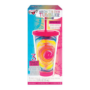 Fashion Angels® Neon Tie Dye Tumbler Design Kit,
