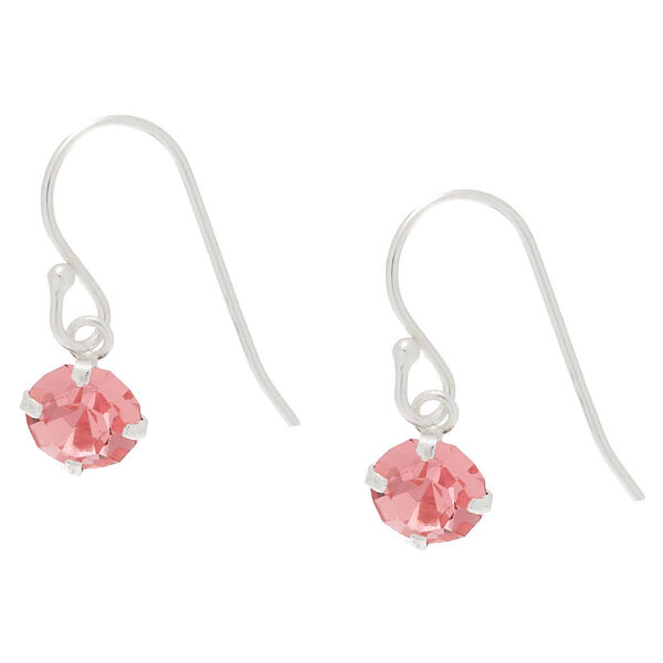 Claire's - sterling silver stone drop earrings - 1