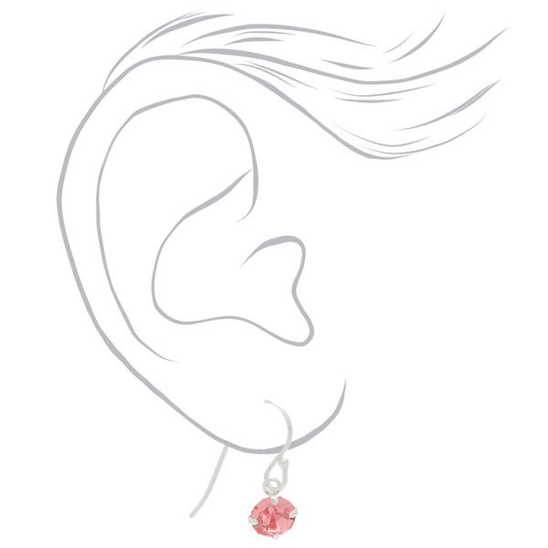 Claire's - sterling silver stone drop earrings - 2