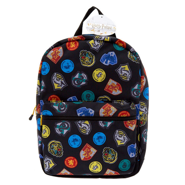 Harry Potter™ Hogwarts House Crest Medium Backpack - Black,