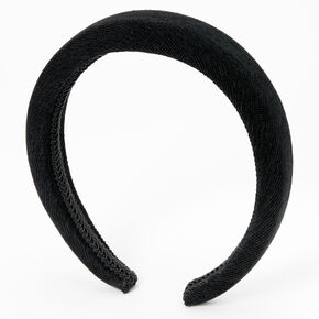Cord Puff Headband - Black,