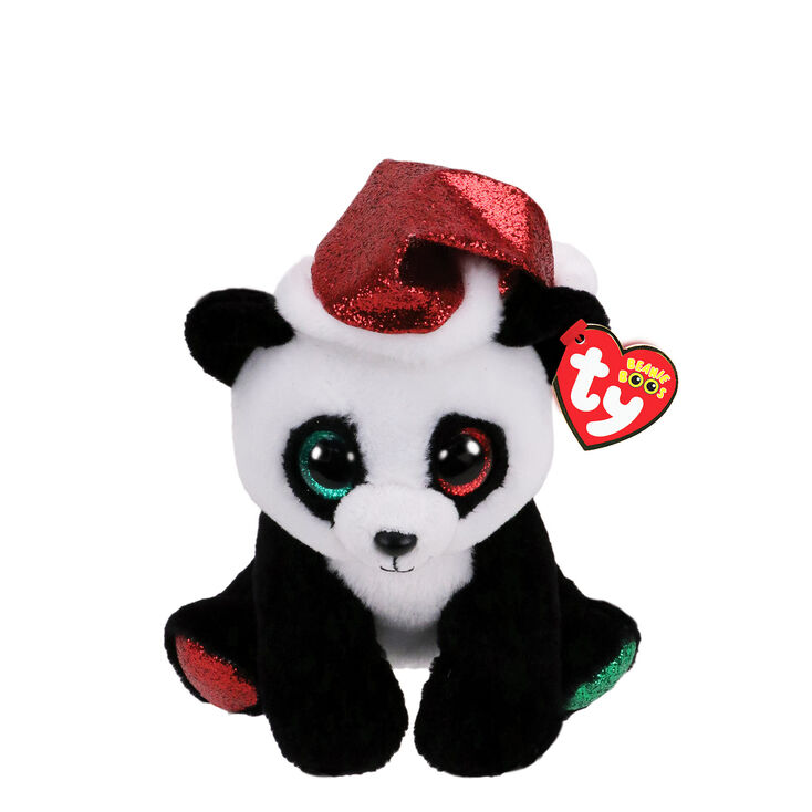 Ty Beanie Boo Small Pandy Claus the Panda Soft Toy,