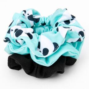 Claire's Club Panda Bear Hair Scrunchies - Mint, 3 Pack,