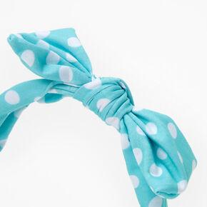 Claire's Club Polka Dot Headband - Mint,