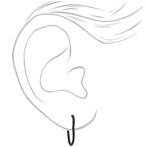 Mixed Metal Heart Stud & Hoop Earrings - 9 Pack,