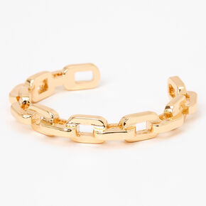 Gold Chunky Chain Link Cuff Bracelet,