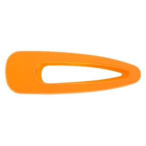 Large Hair Clip - Neon Orange,