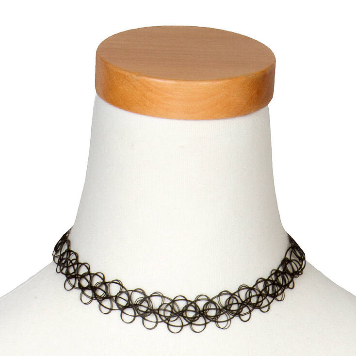 Double Tattoo Choker Necklace,