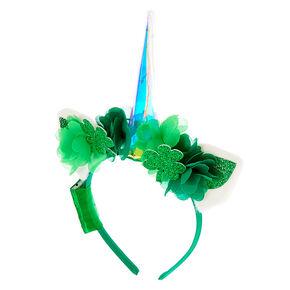 Light Up Irish Unicorn Headband - Green,