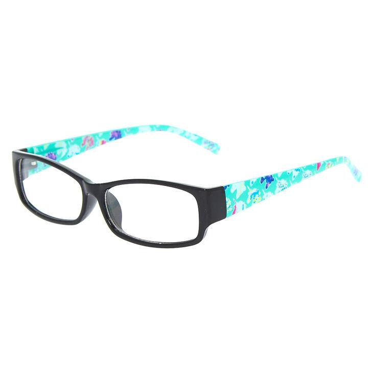 57ce120bf03 Monture de lunettes rectangulaires vert menthe motif licornes ...