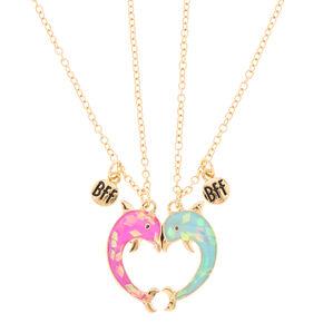 Pendant necklaces claires best friends magnetic dolphin necklaces aloadofball Choice Image