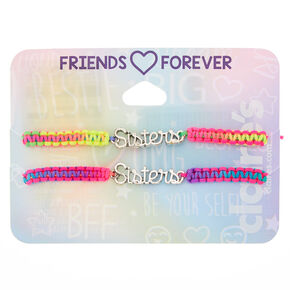 Rainbow Adjustable Sisters Bracelets - 2 Pack,