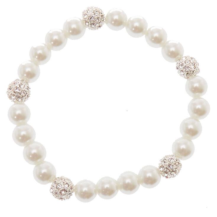 Bracelet boule de feu en perles d'imitation blanches,