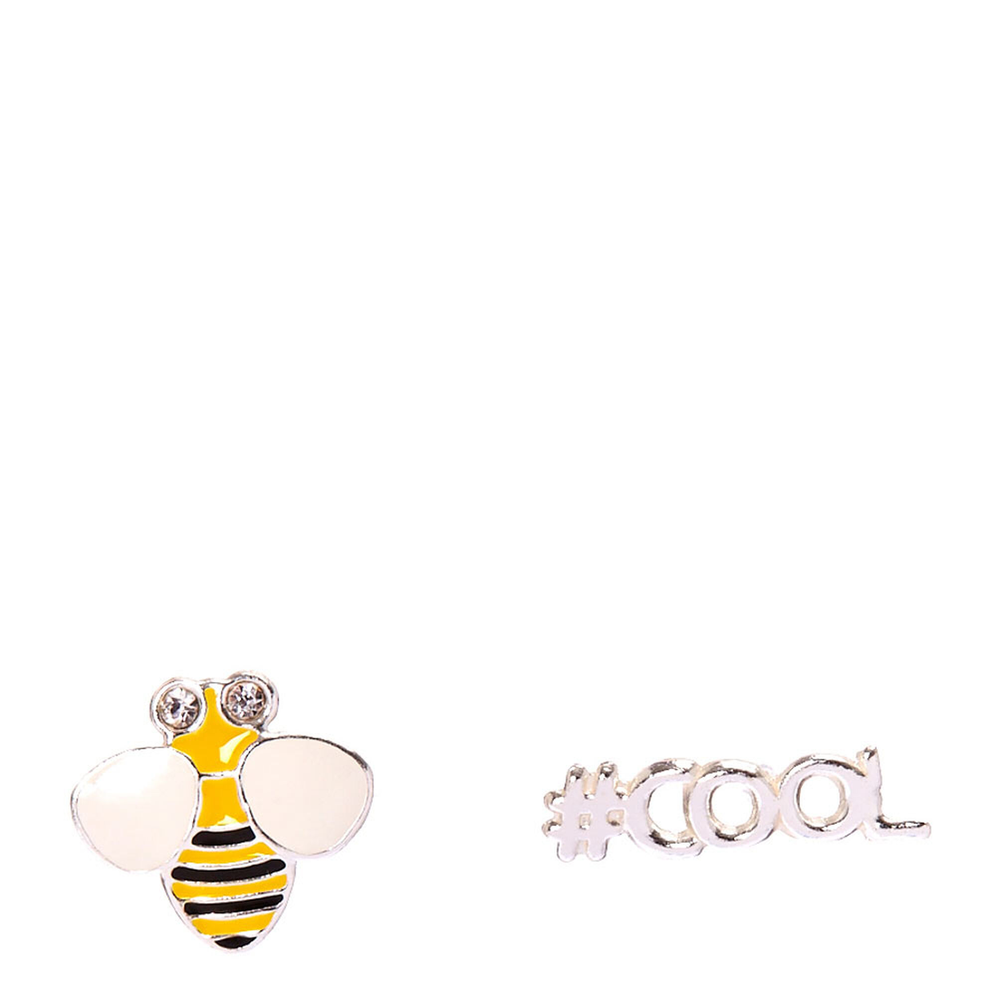 earring design in bee mini single stud minibee myel gold products yellow