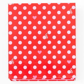 Red Polka Dot 50 Piece Makeup Set,
