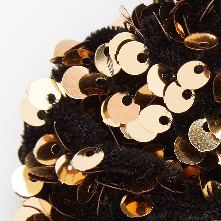 Medium Gold Sequin Scrunchie,