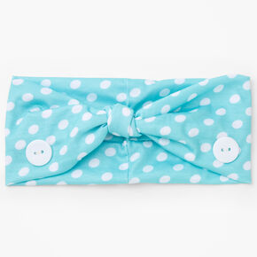 Claire's Club Polka Dot Face Mask Headwrap - Mint,