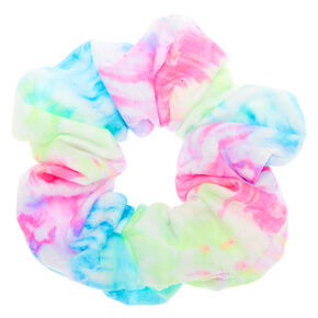 Chouchou tie-dye pastel de taille moyenne,