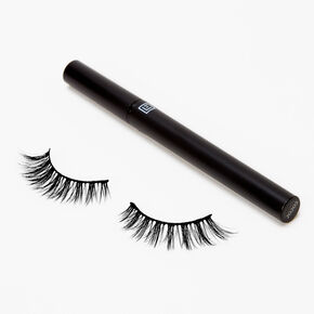 Eylure Line & Lash Faux Mink Wispy False Lashes - Black Liner,