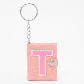 Initial Mini Journal Keychain - T,