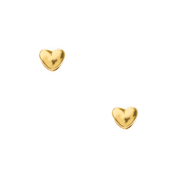 Claire's - 18kt plated heart stud earrings - 1