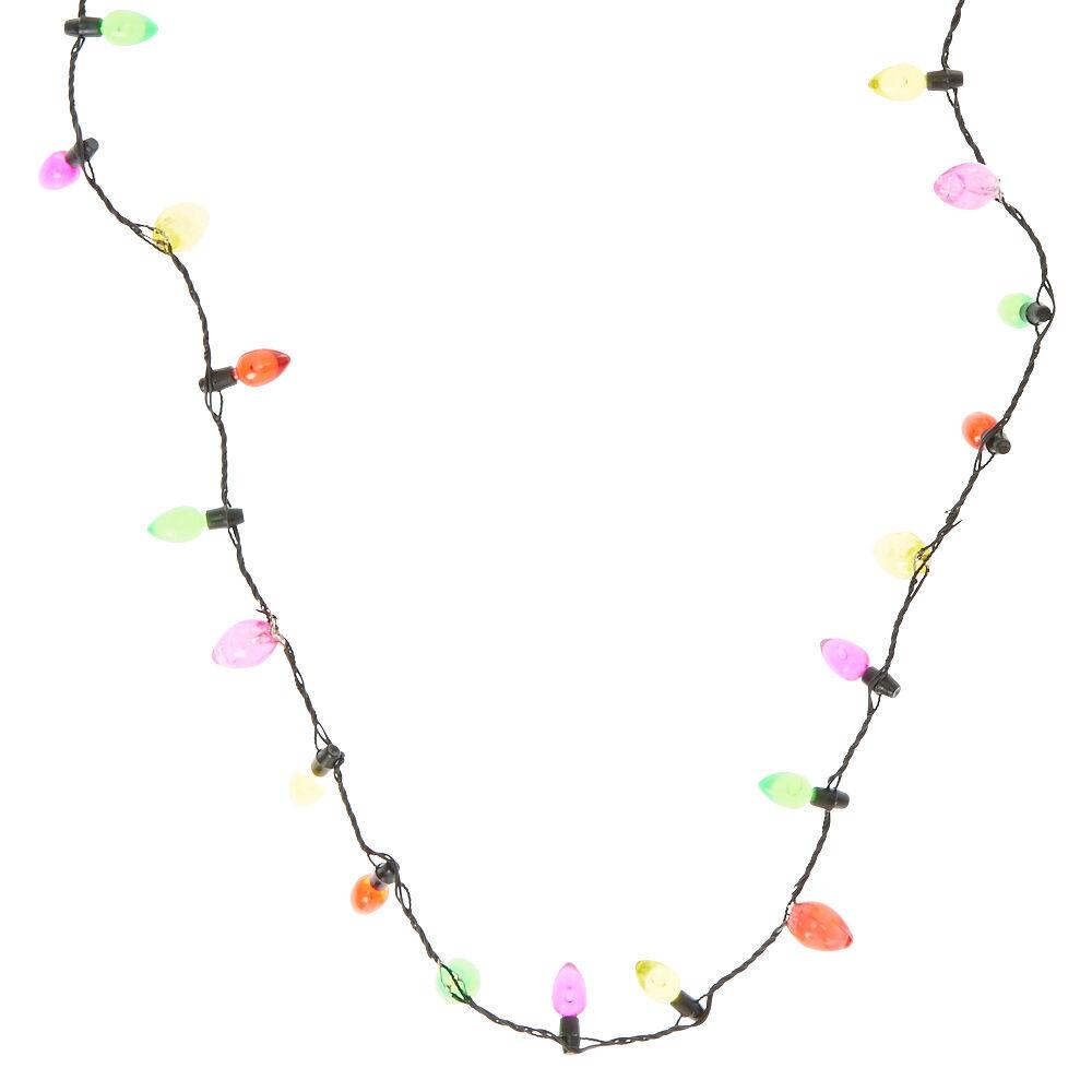 Christmas Light Up Light Bulb Necklace,